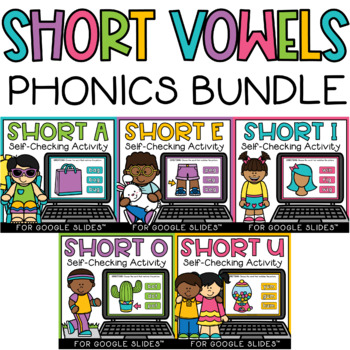 CVC Short Vowel Word Work Paperless Google Classroom PPT Boom GROWING BUNDLE!