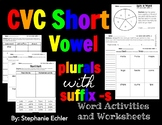 CVC Short Vowels with suffix -s plurals Activities and Worksheets
