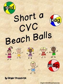 CVC Short a Beach Balls Card Game