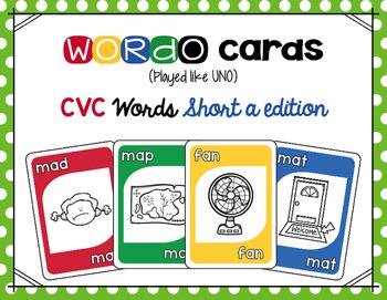 CVC Short a Card Game