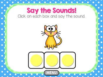 Short Vowel CVC Elkonin Boxes ~ Interactive PowerPoint
