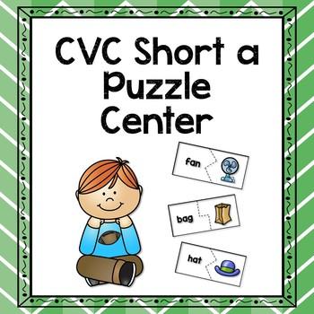 CVC Short a Puzzle Center