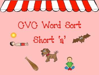 CVC Short a Word Sort Mimio Game