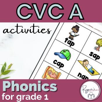 CVC Short a Word Work Activities