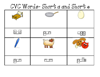 CVC Short a and Short e