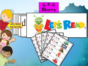 CVC Short a flash cards
