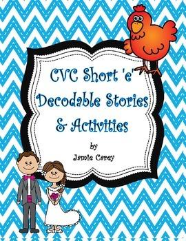 CVC Short 'e' Decodable Stories & Activities