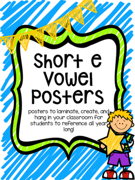 CVC Short e Vowel Family Posters