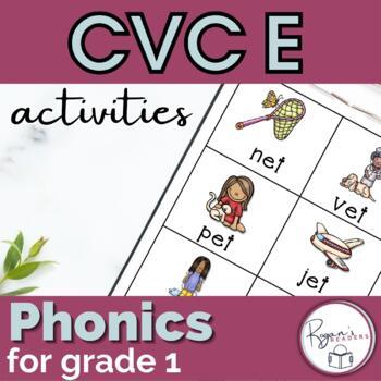 CVC Short e Word Work Activities