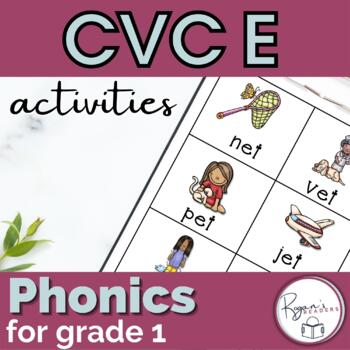 CVC Short e Word Work Activities