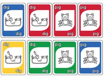 CVC Short i Card Game