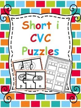 CVC Short i Puzzles & Record Sheet