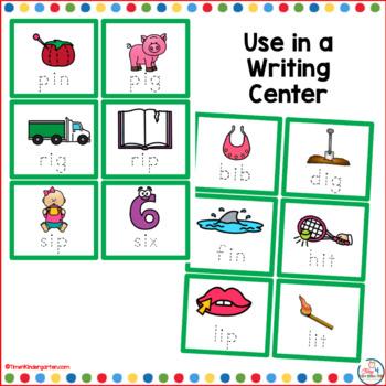 CVC Short i Word Cards for Writing