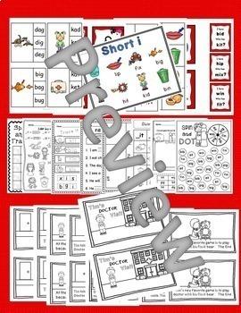 CVC Short i Word Work Activities with an Assessment