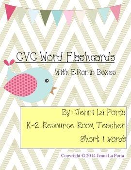 CVC Short i words with elkonin boxes
