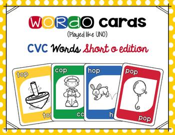 CVC Short o Card Game