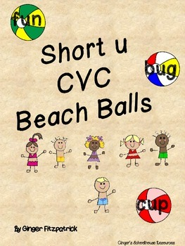 CVC Short u Beach Balls Card Game