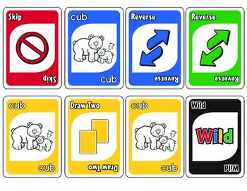 CVC Short u Card Game