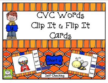 CVC Short u Clip It & Flip It Cards
