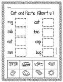 CVC (Short u) Cut and Paste
