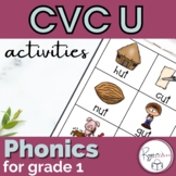 CVC Short u Word Work Activities