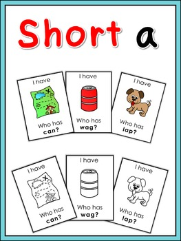 Short vowel a  I have ... Who has ...? game