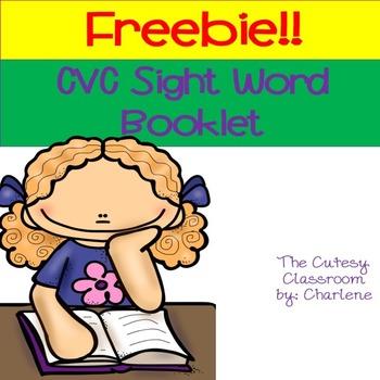 CVC Sight Word Booklet