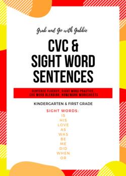 CVC & Sight Word Sentences #3