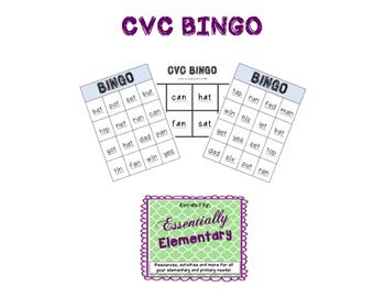 CVC/ Sight word BINGO