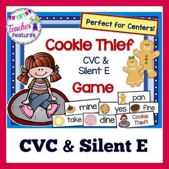 CVC & Silent E Game: Cookie Thief