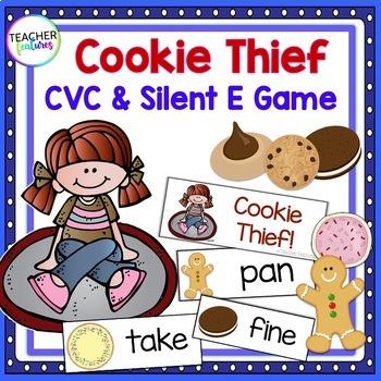 CVC & Silent E Game: Cookie Thief
