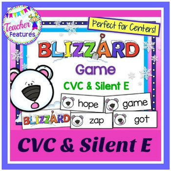 CVC & Silent E: Polar Bear & Blizzard Theme