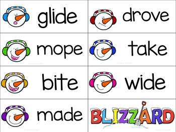 CVC & Silent E: Snowman & Blizzard Theme
