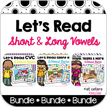 Short & Long Vowels Board Game Bundle