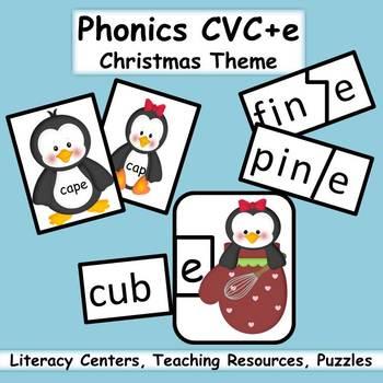 Phonics CVC+e Instructional Resources - Christmas Theme