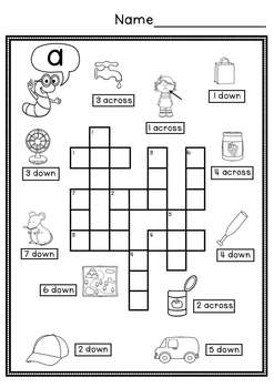 CVC Simple Crossword Puzzles