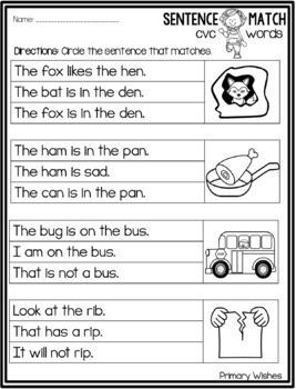 CVC Simple Sentence Match