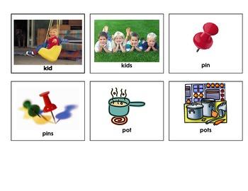 CVC Singular & Plural Matching Game