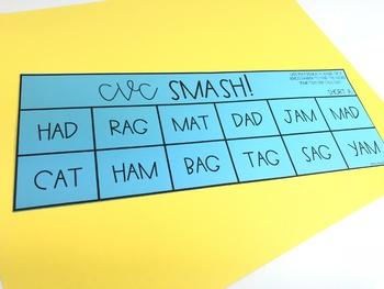 CVC Smash!! CVC Word Identifying Game