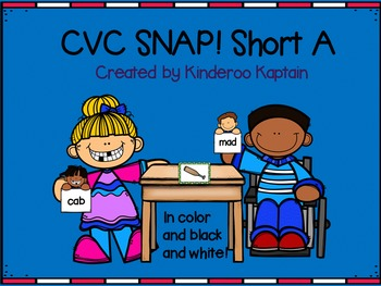 CVC Snap! Short A Card Game