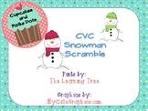 CVC Snowman Scramble