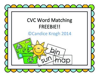 CVC Sort and Pocket Chart FREE (short vowel)