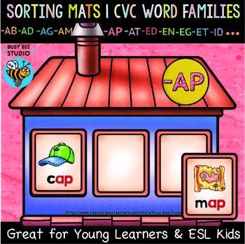 CVC Sorting Mats   CVC Word Families