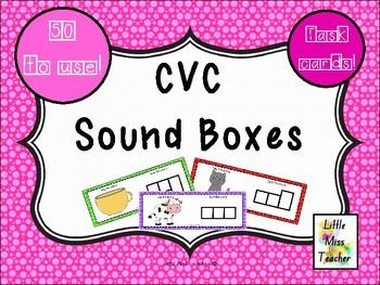 CVC Sound Boxes - 50 Task Cards!