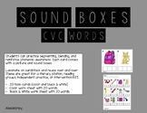 CVC Sound Boxes - Task Cards & Worksheet