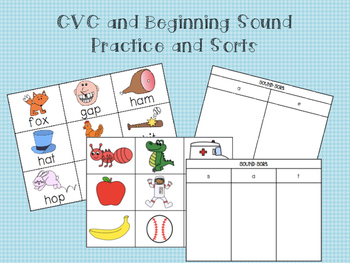 CVC & Sound Picture Cards and Sorts