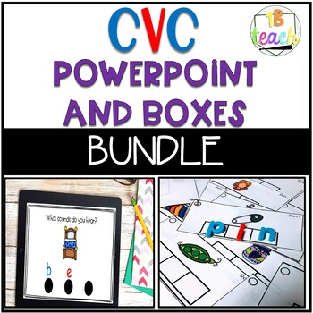 CVC Practice Activity with Powerpoint and Sound Boxes Station