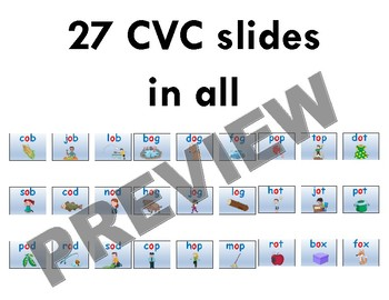 "CVC ""Sound it Out"" PowerPoint: short o + PDF of all slides included"
