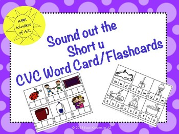 CVC Sound it out Card/Flashcard Short u Words