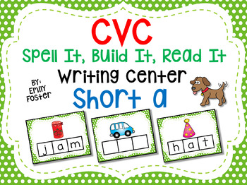 CVC Spell It, Build It, Read It Writing Center - SHORT A